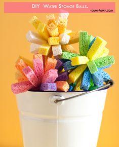 Summer fun Ideas- Sponge balls