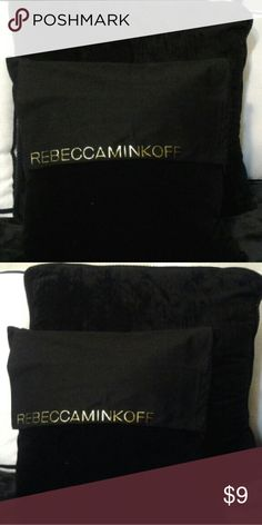 REBECCA MINKOFF DUST BAG Black Rebbec Minkoff black dust bag with logo in gold., a drawstring Rebecca Minkoff Bags