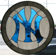 J&M Stained Glass, North Myrtle Beach, SC - NY Giants logo - personal collection.
