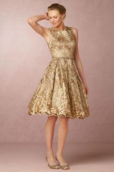 Gold Lace Tail Dress For Mother Of The Bride Rosa From Bhldn