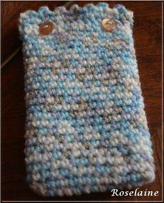 Pochette téléphone au crochet avec tuto
