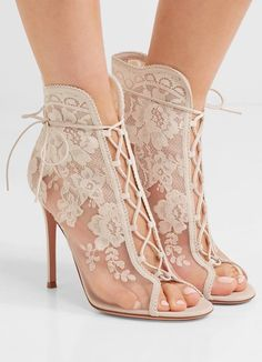 a263e8c6c48c Handcrafted in leather embroidered galon lace and see-through mesh