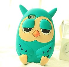 Cartoon 3D Realistic Owl Case for Apple iPhone 6+ Fashion and Cute Soft Silicone