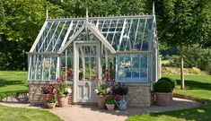 Beautiful greenhouse for all my homegrown veggies! Or, just as a summer house for tea parties!!