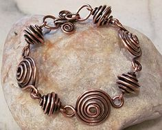 "Spirals Bracelet love the ""bead"" type spirals and the integrated clasp on this one"
