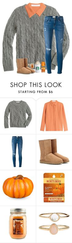 """""""Day 2:: Pumpkin farm 🎃"""" by mmprep ❤ liked on Polyvore featuring J.Crew, See by Chloé, Frame Denim, UGG Australia, Improvements, Burt's Bees, Holiday Memories, Accessorize and madimadsfall2k16"""