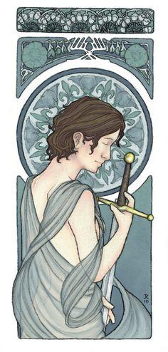 Joan of Arc by LaughingAstarael.deviantart.com on @deviantART