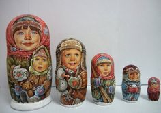 Children in the Snow Russian Matryoshka-Bagdasaryan