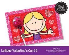 Lollipop Valentines Card, San Valentin, Amor, Corazón, Tarjeta, High Resolution, Valentines Card, Heart, Tarjeta Para Paleta, Love, Corazon