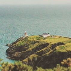 Baily lighthouse at Howth head in Dublin. Visit Dublin, Dublin Ireland, Lighthouse, Greenery, Irish, Nostalgia, Water, Outdoor, Instagram