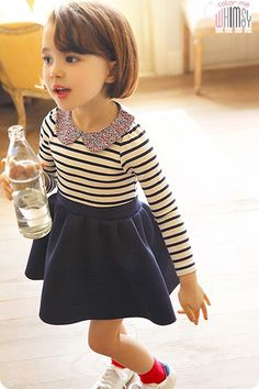 Sailor Striped Dress for girls kids clothing at colormewhimsy