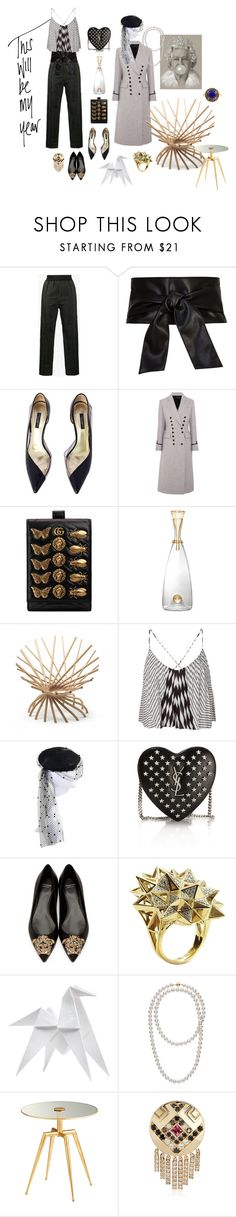 """""""This will be my year"""" by sarahhughes-net ❤ liked on Polyvore featuring Haider Ackermann, Dolce&Gabbana, Joseph, Gucci, L'Objet, Mogg, Chanel, Yves Saint Laurent, Versace and John Brevard"""