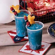 Berry Slush -- these would be great for the 4th of July!