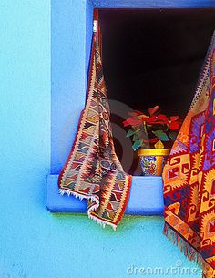 Nochebuena on a window - Mexico