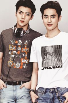 and behold, THE SEXIEST NERDS YOU WILL EVER MEET! #SEHUN #SUHO #EXO
