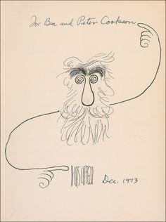 Al Hirschfeld by  Al Hirschfeld.