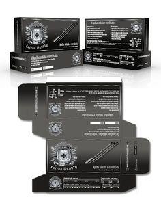 Triparte Tattoo Supply Design para caixa de agulhas ___ Graphic Design Package by sr3ddesign Tattoo Supply, 3d Pictures, Box
