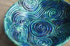 Starry Night Serving Bowl by kaytwoclay on Etsy, $70.00....love, but not for $70!