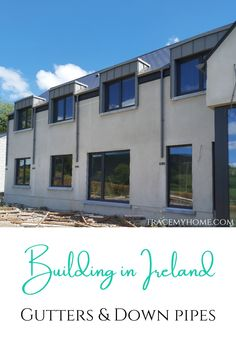 Building in Ireland: Gutters and down pipes are usually a last thought for some people. Click here to find out who we got our gutters from and why! Carbon Footprint, Salt And Water, Pipes, Photo Credit, How To Find Out, Ireland, Solar, It Cast