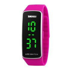 SKMEI Fashion Cool Digital LED Sports Watch Silicone Strap Student Jelly Watch Unisex Braclet Couple Wristwatch