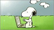Snoopy On the computer