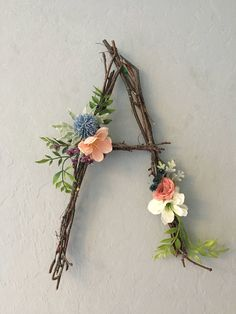 Lunchtime Wedding Treat - These floral woodland letters would look amazing for a wedding. Imagine your initials or LOVE in these cute letters by DoGood Decor