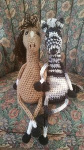 #crochet, free pattern, amigurumi, stuffed toy, floppy horse and zebra, #haken, gratis patroon (Engels), paard, pony, zebra, knuffel, speelgoed, #haakpatroon