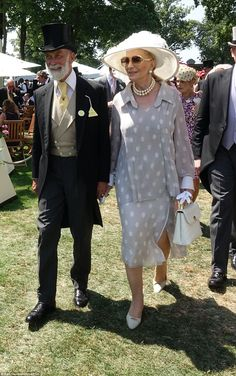 Prince and Princess Michael of Kent were among the members of the Queen's extended family to join the party in the Royal Enclosure