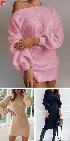 Winter Fashion Outfits, Look Fashion, Fall Outfits, Cute Casual Outfits, Chic Outfits, Short Mini Dress, Short Dresses, Mode Chic, Jumper Dress