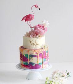 Flamingo Party, Flamingo Cake, Flamingo Birthday, 13 Birthday Cake, Novelty Birthday Cakes, Colorful Birthday Cake, Birthday Ideas, Beautiful Cakes, Amazing Cakes