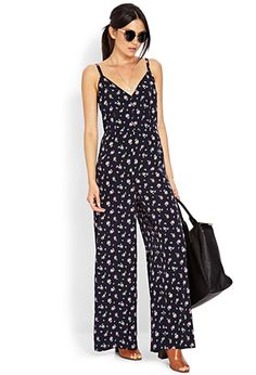 Dainty Floral Jumpsuit #Forever21