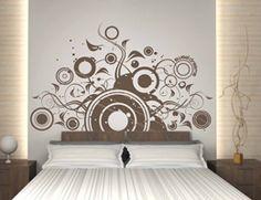 Cabeceros de cama hechos con vinilos: espectaculares, versátiles y baratos