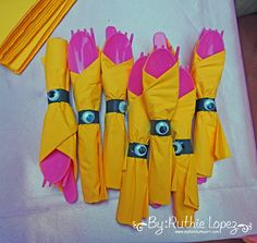 My hobby My Art: Minion Girl Birthday Party!!!Minion Candy Bar Ideas!! Silverware