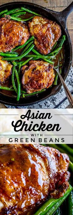 Asian Seared Chicken and Green Beans from The Food Charlatan. This Asian seared Chicken and Green Beans recipe has the marinade and method to get you the most tender chicken of your life! And also the crispiest skin. Stir fry the green beans in a quick sauce and you are on your way to an amazing low-carb meal! #chicken #tender #asian #greenbeans #seared #stirfry #healthy #lowcarb Turkey Recipes, Vegetarian Recipes, Chicken Recipes, Dinner Recipes, Healthy Recipes, Chicken And Beans Recipe, Low Carb Recipes, Xmas Recipes, Healthy Chef