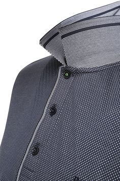 Polo regular fit con estampado: 'C-Firenze 5', Azul oscuro