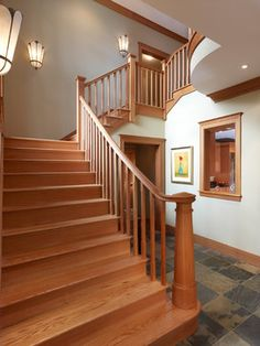 Arts and Crafts traditional staircase