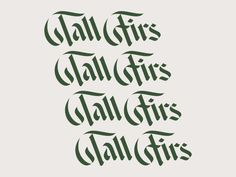 Tall Firs by Simon Walker on Dribbble Typography Tutorial, Hand Lettering Tutorial, Typography Alphabet, Vintage Typography, Vintage Logos, Portfolio Logo, Portfolio Layout, Simon Walker, Hand Logo