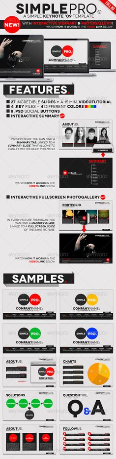 colorful well designed keynote template designery Pinterest - keynote template