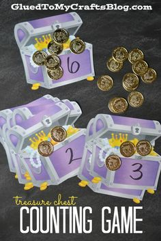 Treasure Chest Counting Game. K math game: Counting and Cardinality