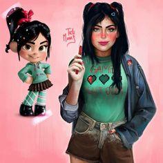 Cette artiste propose une vision plus réaliste de personnages animés emblématiques: Elsa, Blanche Neige, Jack Frost...