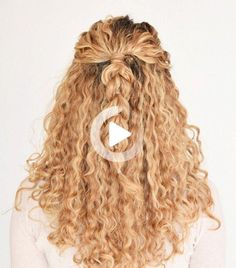 Looking for chic and easy hairstyles for curly hair? We've rounded up nine of our favorites #curlyhairstyles Easy Hairstyles For Medium Hair, Medium Long Hair, Quick Hairstyles, Medium Hairs, Curly Hair Styles, Pull Through Braid, Hair Looks, Naturally Curly, Cool Tattoos