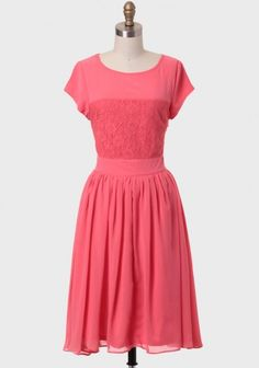 She Sells Seashells Indie Dress In Coral | Modern Vintage Dresses | Modern Vintage Clothing