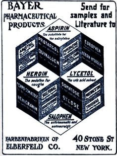 which one of these is not like the other? an 1895 ad for Bayer Heroin.
