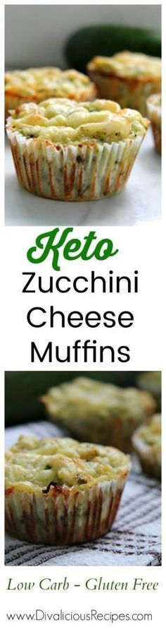 Keto Zucchini Cheese Muffins Recipes for Keto Diet. Low Carb and Gluten Free!