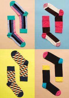 Happy Socks I'm addicted to buying cute socks Funny Socks, Cute Socks, My Socks, Awesome Socks, Swipe File, Fashion Socks, Men's Fashion, Crazy Socks, Colorful Socks