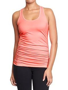 Old Navy, Women's Old Navy Active Ruched Tank in Lotus Lady Neon, $17 on sale for $14