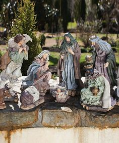 Take a look at this Nativity Statuary Set by Evergreen on today! Christmas Manger, Christmas Nativity Scene, Christmas Holidays, Christmas Decorations, Nativity Scenes, Christmas Sale, Holiday Fun, Holiday Ideas, Christmas Crafts