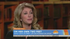 Wendy Davis on Today show On Today, Today Show, Wendy Davis, Weather Forecast, Running, Weather Predictions, Keep Running, Why I Run