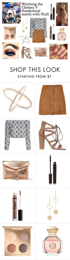 """""""Watching the Chelsea V Sunderland match with Niall"""" by danielle21-styles ❤ liked on Polyvore featuring Soaked in Luxury, Urban Expressions, GET LOST, Laura Mercier, NYX, Cloverpost and Tory Burch"""