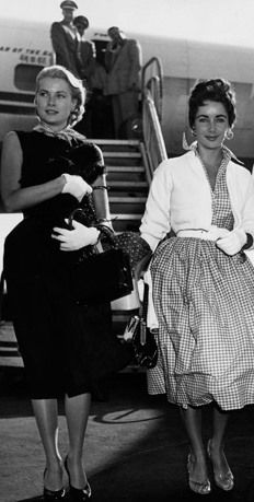 Travel companions Grace Kelly & Liz Taylor having a Carol and Therese…